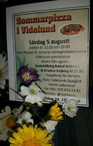 Välkommen till Videlund! Njut av god pizza och lyssna på god musik!